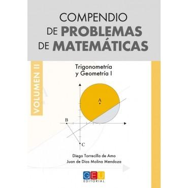 Compendio de problemas de matemáticas II. Trigonometría y Geometría I · Bachillerato · Portada