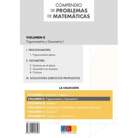 Compendio de problemas de matemáticas II. Trigonometría y Geometría I · Bachillerato