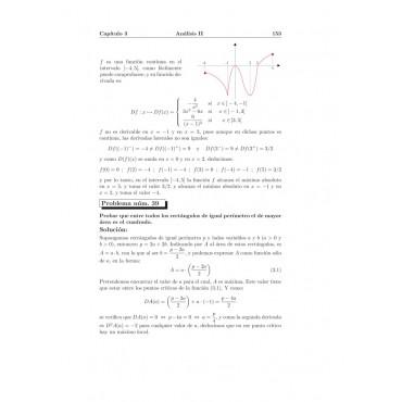 Compendio de problemas de matemáticas V. Análisis II · Bachillerato