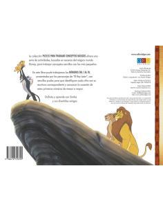 El Rey León: Números del 1 al 10 · Libro–juego (puzle)