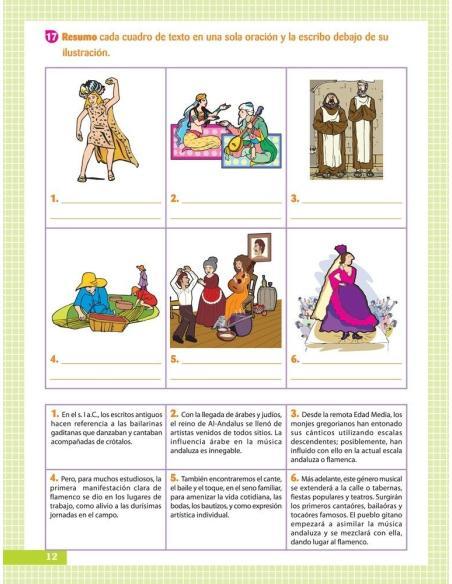 Musiqueando 6. Cuaderno de actividades · Educación Primaria · Página 12