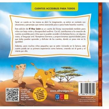 El Rey León · Cuento con lectura facilitada · Contraportada