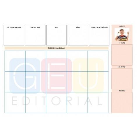 Agenda de comunicación visual imantada: Material del docente