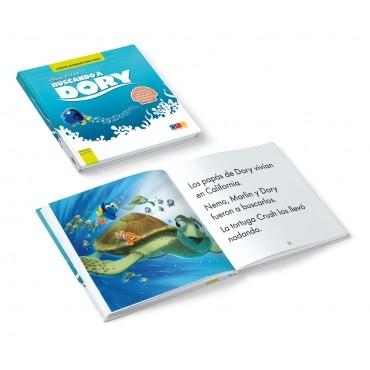 Pack EduDiver: Buscando a Dory · Cuento con lectura facilitada · Libro abierto y cerrado