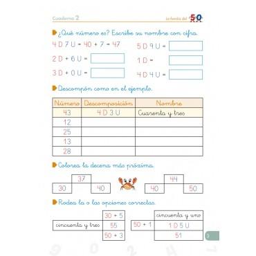 Pack 1º Matemáticas (Números) + Organizador semanal de regalo