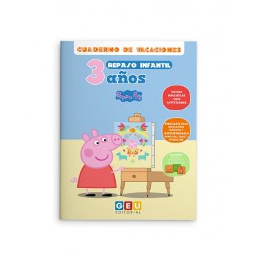 Cuaderno de vacaciones de repaso infantil de 3 años Peppa Pig