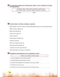 Palabras expresión y vocabulario Nivel 2 Cuaderno 7-3
